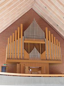 Prospekt der Kuhn-Orgel in der Thomaskirche